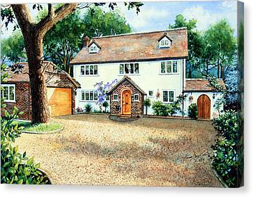 Surrey Home Canvas Print by Hanne Lore Koehler
