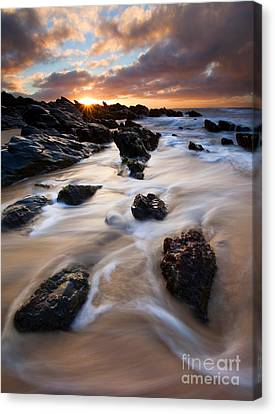 Surrounded By The Tides Canvas Print by Mike  Dawson