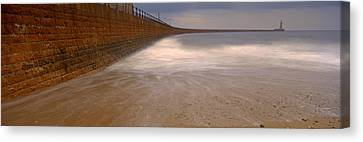 Surrounding Wall Along The Sea, Roker Canvas Print
