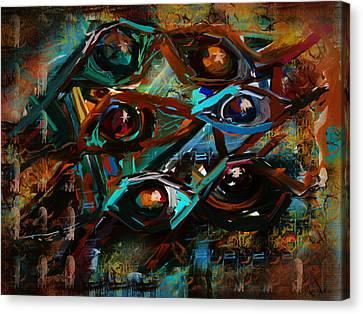 Surveillance Canvas Print by Jo-Anne Gazo-McKim