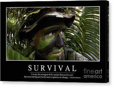 Survival Inspirational Quote Canvas Print