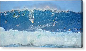 Surviving The Banzai Pipeline Canvas Print by Aloha Art