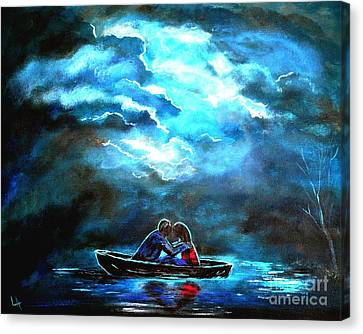 Surviving The Storm Canvas Print by Leslie Allen