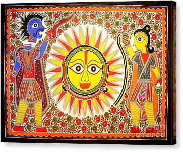 Surya Grahan Canvas Print