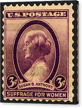 Susan B. Anthony Commemorative Postage Stamp Canvas Print