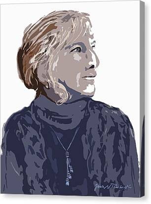 Canvas Print featuring the painting Susan R. by Jean Pacheco Ravinski