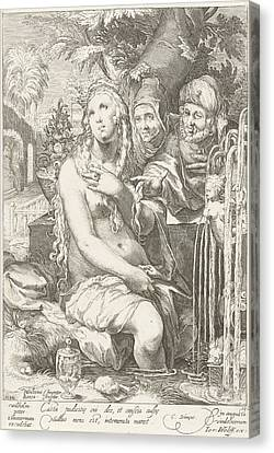 Threatening Canvas Print - Susanna Bathes And Is Threatened By Two Elders by Artokoloro