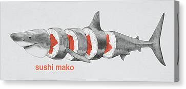 Hammerhead Shark Canvas Print - Sushi Mako by Eric Fan