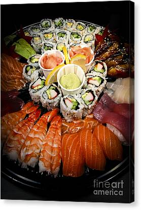 Sushi Tray Canvas Print by Elena Elisseeva