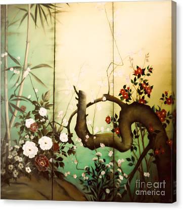 Sunshine In The Garden Canvas Print by Sorin Apostolescu