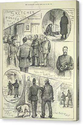 Suspects Arrested Canvas Print by British Library