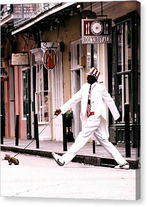 New Orleans Suspended Animation Of A Mime Canvas Print
