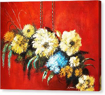 Canvas Print featuring the painting Suspended Bouquet by Al Brown