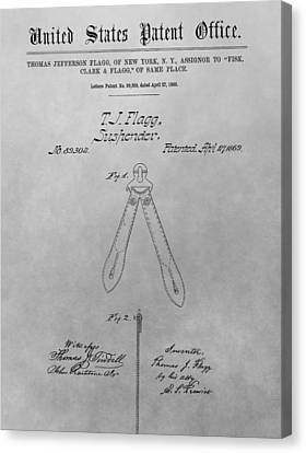 Suspender Patent Drawing Canvas Print by Dan Sproul