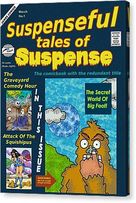 Suspenseful Tales Of Suspense No.1 Canvas Print by James Griffin