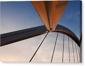 Suspension Bridge Canvas Print by Rod McLean