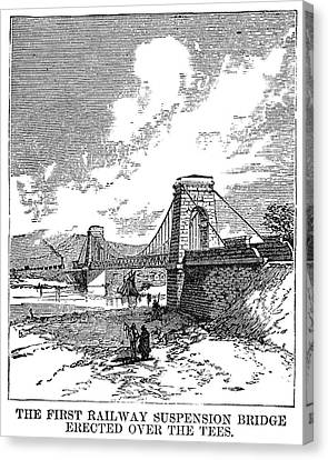Suspension Bridge, 1830 Canvas Print