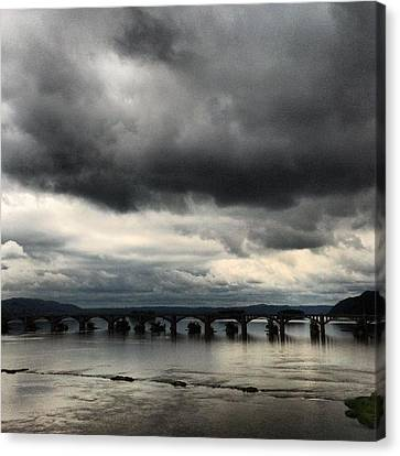 Susquehanna River Bridge Canvas Print by Toni Martsoukos