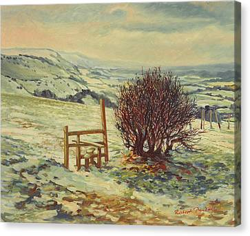 Snow Scene Canvas Print - Sussex Stile, Winter, 1996 by Robert Tyndall