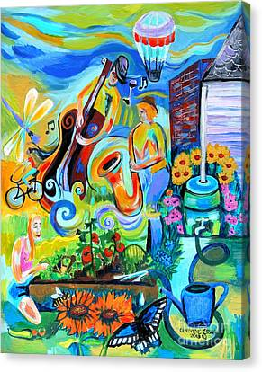 Dogtown Street Musicians Festival Canvas Print by Genevieve Esson