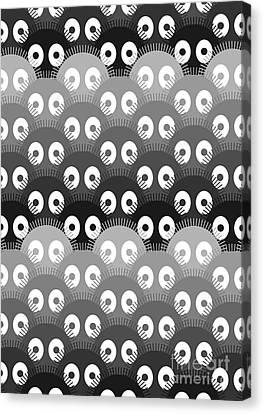 Susuwatari Pattern Dark Canvas Print by Freshinkstain