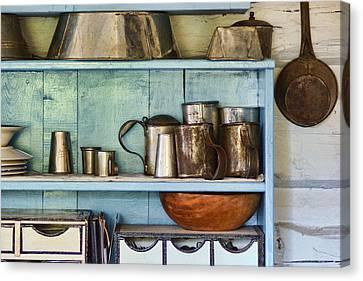 Sutler Store - Shelves - Wares Canvas Print by Nikolyn McDonald
