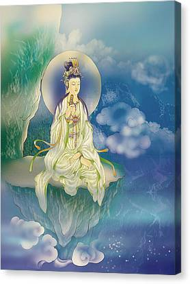 Sutra-holding Kuan Yin Canvas Print by Lanjee Chee