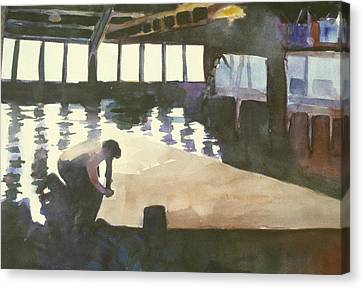 Sausalito Canvas Print - Sutter Sail Loft by Hil Hawken