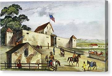 Sutter's Fort, 1849 Canvas Print by Granger