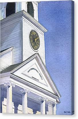 Sutton Congregational Church Canvas Print by Heidi Gallo