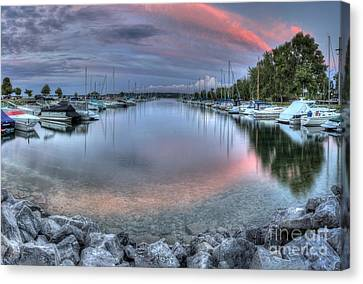 Sutton's Bay Marina Canvas Print by Twenty Two North Photography