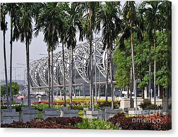 Suvarnabhumi International Airport In Bangkok Canvas Print by Sami Sarkis