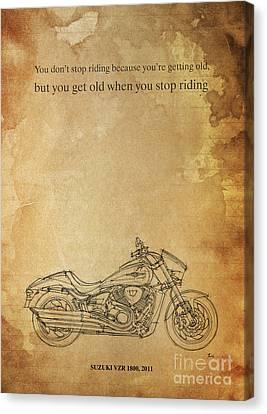 Suzuki Vzr 1800 2011 Quote Canvas Print by Pablo Franchi