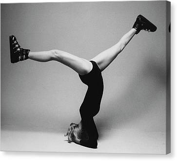 Suzy Chaffee Standing On Her Head Canvas Print