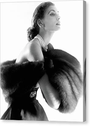 Jewelry Canvas Print - Suzy Parker by Horst P. Horst