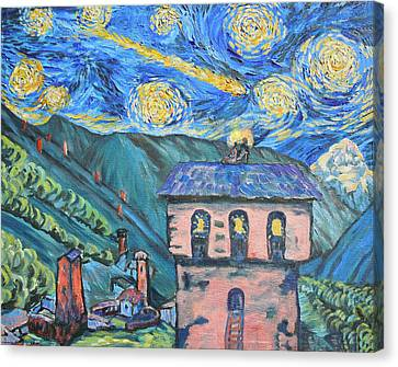 Svaneti Star Watchers I Canvas Print