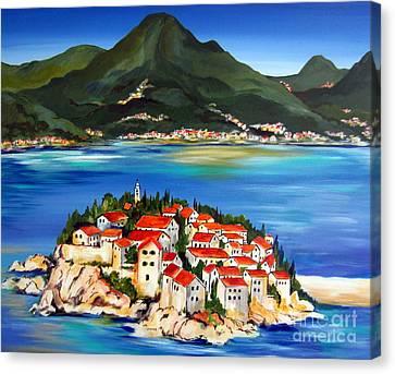Sveti Stefan Montenegro 2 Canvas Print