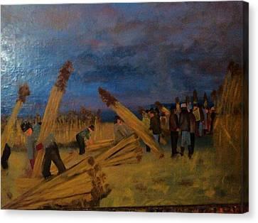 Svetsko Prvenstvo U Secenju Trske Canvas Print by Lazar Caran