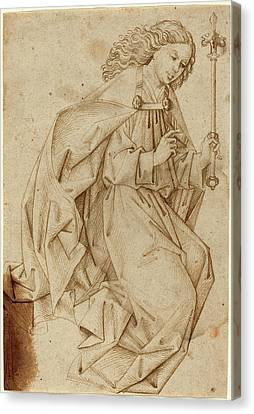 Swabian School, The Angel Of The Annunciation Canvas Print by Quint Lox