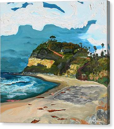 Swami's Beach Canvas Print by Joseph Demaree
