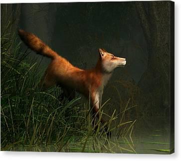 Swamp Fox Detail Canvas Print by Daniel Eskridge