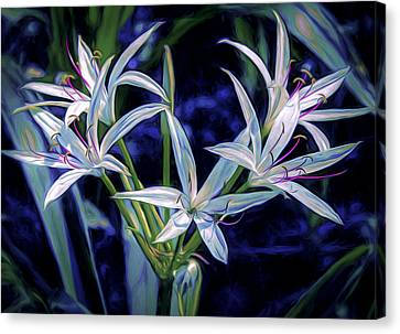 Canvas Print featuring the photograph Swamp Lilies by Steven Sparks