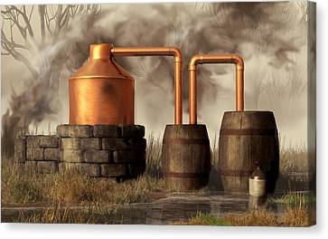 Swamp Moonshine Still Canvas Print by Daniel Eskridge