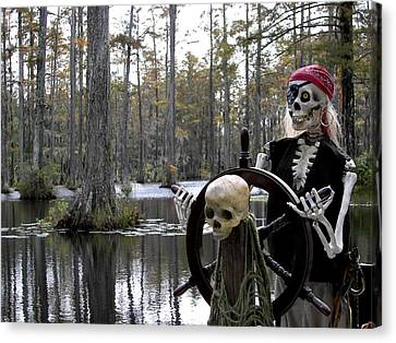 Swamp Pirate Canvas Print by Karen Wiles