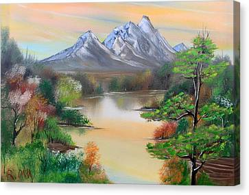 Swamp Canvas Print by Remegio Onia