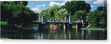 Swan Boat In The Pond At Boston Public Canvas Print by Panoramic Images