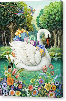 Swan Boat Canvas Print by Lynn Bywaters