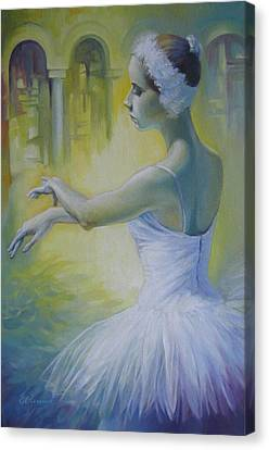 Swan Dance Canvas Print