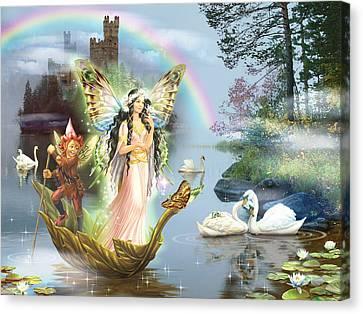 Swan Lake Fairy Canvas Print by Zorina Baldescu
