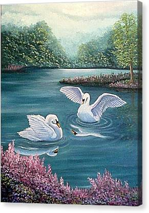 Swan Lake Serenity Canvas Print